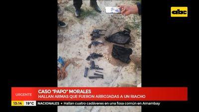 Hallan armas que serían de Papo Morales