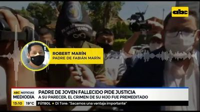 """Padre de Robert Marín pide justicia y cárcel para """"Papo"""" Morales"""