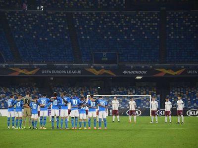 Tremendo homenaje del Napoli a Maradona