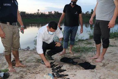 """Caso """"Papo"""" Morales: Cinco armas fueron halladas en riacho"""