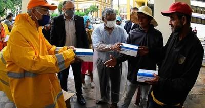 La Nación / Movilización: ante violación de protocolo, entregaron 3.000 tapabocas a campesinos