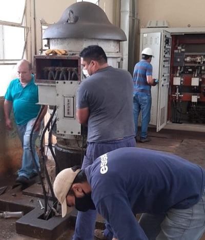 Essap renueva bomba en planta de tratamiento y proyecta más inversiones