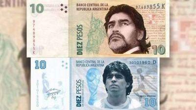 Volvieron los pedidos para que exista un nuevo billete de 10 pesos con la imagen de Maradona