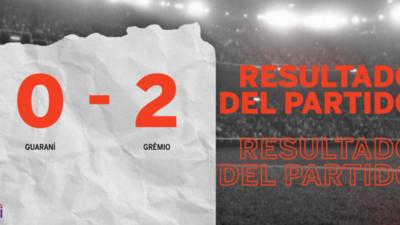 Grêmio le ganó a Guaraní en su casa por 2 a 0