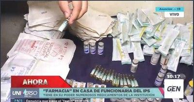 La Nación / Constatan farmacia clandestina en casa de funcionaria del IPS