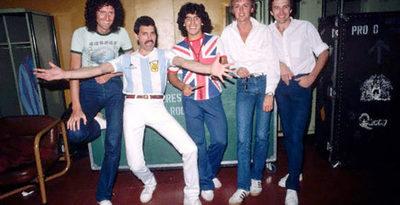 Recuerdan el día en que Freddie Mercury conoció a Maradona