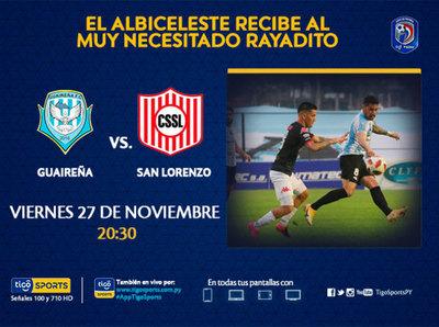 Guaireña y San Lorenzo se ven en el inicio de otra jornada
