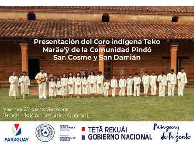 Fiesta de coro y danza Mbya Guaraní habrá este viernes en Misión Jesuítica de Itapúa