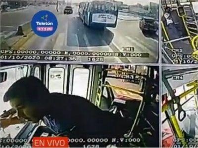 Chofer denunció brutal ataque mientras conducía un bus