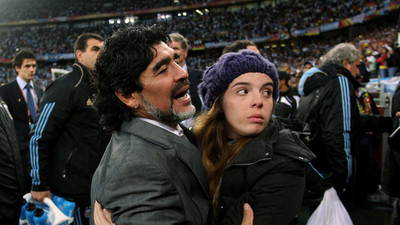 La conmovedora despedida de Dalma Maradona a su padre