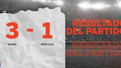 Con doblete de Jorge Recalde, Olimpia derrotó a River Plate