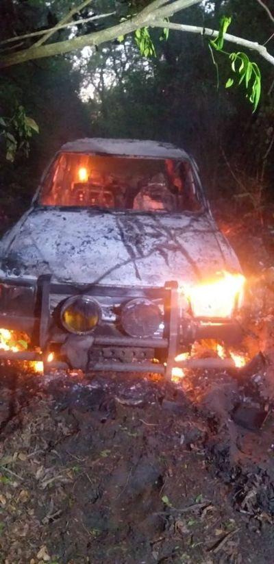 Intento de asalto, persecución, quema de vehículo y un detenido en Carapeguá