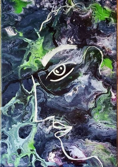 """Todo verde"", obras con tinta reciclada"