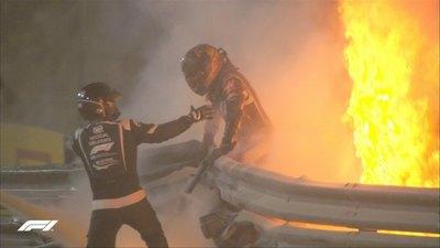 Auto partido a la mitad y en llamas: El escalofriante accidente en la Fórmua 1