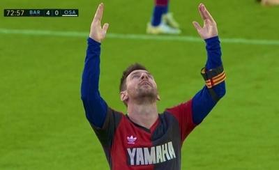 HOY / El homenaje de Messi a Maradona en la goleada del Barcelona