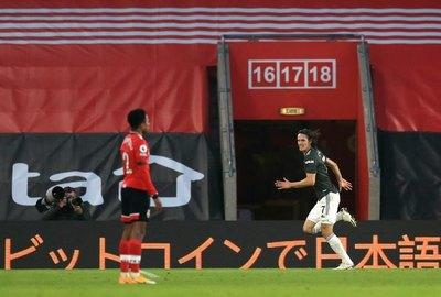Cavani guía la remontada del Manchester United ante Southampton