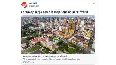 En Argentina estiman que Paraguay surge como la mejor opción para invertir