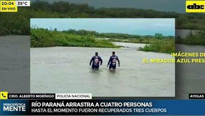 Recuperan tres cuerpos del Paraná