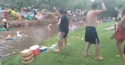 La Nación / Inconsciencia ciudadana: denuncian aglomeración en balneario de Caacupé