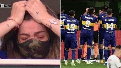 Boca dedica un gol a Maradona y emociona a su hija en La Bombonera