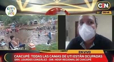 Todas las camas están ocupadas en Caacupé, dice directora de hospital