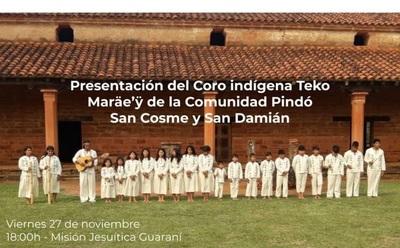 Fiesta de coro y danza Mbya Guaraní este viernes en Misión Jesuítica de Itapúa