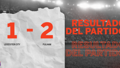 Por una mínima ventaja Fulham se lleva los tres puntos ante Leicester City