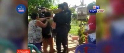 Areguá: Familia denuncia procedimiento irregular y violencia por parte de policías