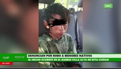 Denuncian por robo a menores nativos en Concepción