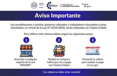 Hacienda inició el pago de subsidio a artistas y gestores culturales