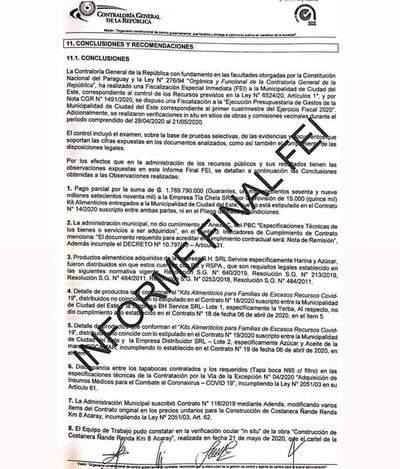 Severas observaciones de Contraloría por licitaciones hechas en la Comuna de CDE