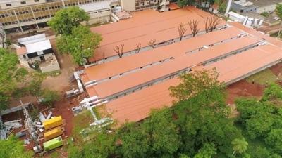 HOY / Nuevos pabellones de contingencia del Hospital de Itauguá con 95% de ejecución