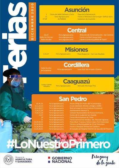 MAG hará ferias agropecuarias durante diciembre en varios puntos del país