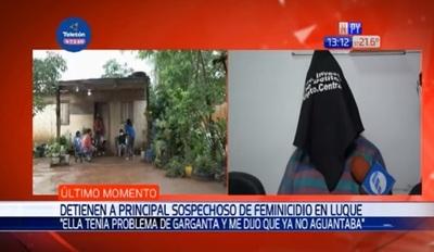 Detienen a sospechoso de asesinar a su pareja en Luque