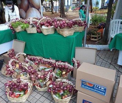 Feria granjera en Asunción con servicio delivery