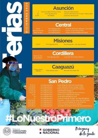 El Ministerio de Agricultura realizará más de 50 ferias todo el mes de diciembre en varios departamentos del país