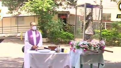 La Virgen de Caacupé acudió hasta el INERAM en el cuarto día del Novenario a la Virgen