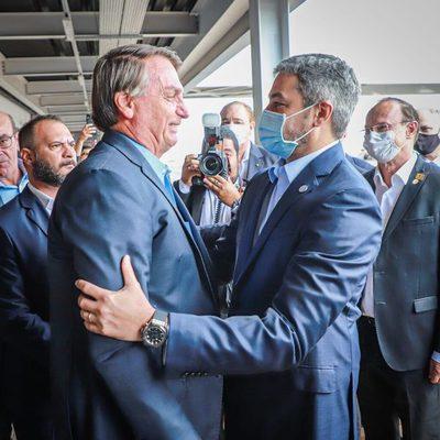 AHORA: el encuentro entre Mario Abdo y Bolsonaro en Foz de Iguazú