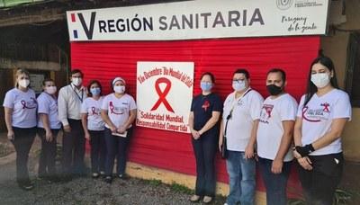 Conmemoran el día Mundial de Lucha Contra el Sida en Coronel Oviedo