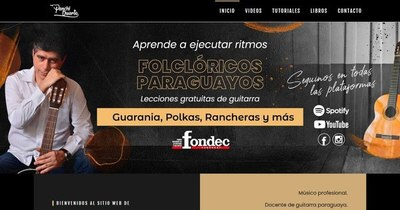 """La Nación / Guitarrista """"Panchi"""" Duarte estrenó sitio web"""