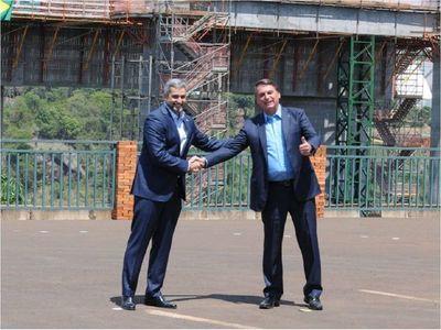 """Bolsonaro celebra el """"casamiento"""" entre Brasil y Paraguay"""