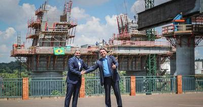 Puente de la Integración: Abdo y Bolsonaro verifican avances