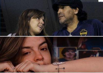"""El detrás de la presencia de Dalma Maradona en la Bombonera: """"No sabía si iba a soportar estar ahí sin él"""""""