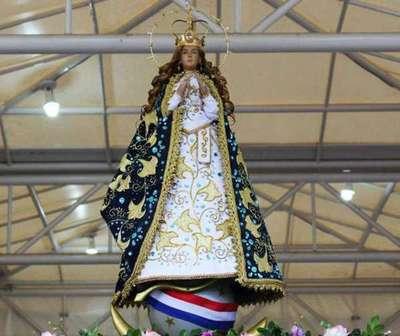 Virgen de Caacupé visitó el INERAM en el cuarto día del Novenario