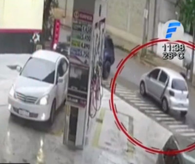 Delincuentes robaron G. 160 millones de una gasolinera