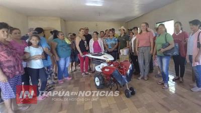 ENTREGAN HERRAMIENTAS A PEQUEÑAS PRODUCTORAS DE SAN RAFAEL DEL PNÁ