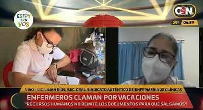 Enfermeros de Clínicas exigen el cumplimiento de sus vacaciones
