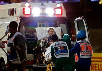 Grosjean abanondó el hospital tres días después del accidente