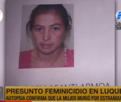 Autopsia confirma que joven madre murió por asfixia