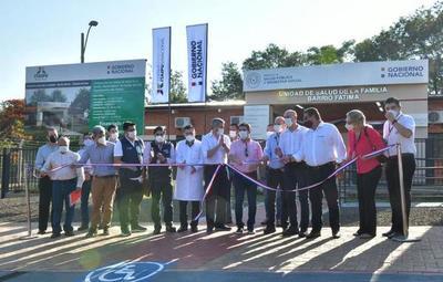 Mario Abdo inaugura puestos sanitarios en Alto Paraná